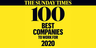 Sunday Times 100 Best Companies 2020 logo