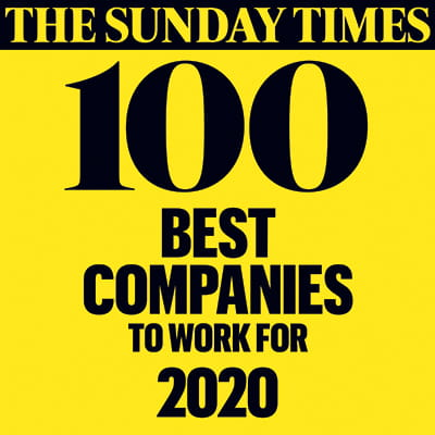 The Sunday Times 100 Best Companies to Work For 2020 logo