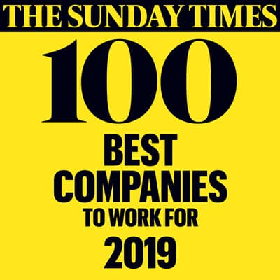 The Sunday Times Top 100 Best Companies 2019